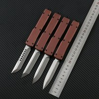 Brown paw Art knife Combat Tactical Knife CNC D2 Blade Anodi...