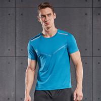 조깅 의류 Vansydical 달리기 Tshirt V 인쇄 체육관 탑스 남성 여름 피트니스 스포츠 셔츠 반사 운동 훈련 스웨터