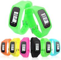 Dijital LCD Pedometre Akıllı Çok Izle silikon Run Adım Yürüyüş Mesafesi Kalori Sayacı İzle Elektronik Bilezik Renk Ölçerlerin SN1727