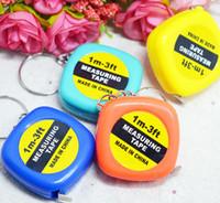미니 측정 테이프 1M 휴대용 테이프 플라스틱 묶어 눈금자를 당겨 도구 도구 혼합 된 색상 선물 학생들을위한 도매