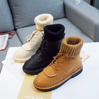 2019 autumn and winter new Korean flat bottom soft bottom wi...