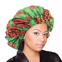 جديد كبير جدا النوم كاب أفريقيا نمط طباعة النسيج أنقرة الشعر غطاء محرك السيارة الحرير واصطف الأغطية غطاء ليلة النوم هات السيدات العمامة