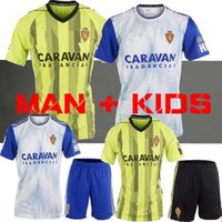MAN + KIDS Camiseta Real Zaragoza Soccer Jerseys 19 19 Domicile ZAPATER POMBOVAZQUEZ ROS PAPUNASHVILI MIGUEL maillots de foot 2019