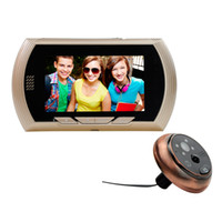 4.3インチモニタースマートビデオドアベルワイヤレスWifiのぞき球ドアベルのベルカメラHD 720p IRナイトビジョンカメラPIRの動き検出