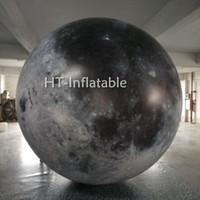 شحن مجاني 2M LED ضوء القمر نفخ بالون للأحداث الديكور معرض نفخ القمر الكواكب مع نافخة