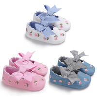 Fashion Embroidered Flower Princess Shoes for Toddler Baby G...