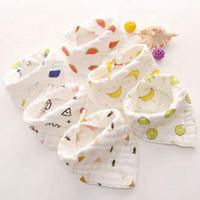 Infant Muslin do bebê babadores animal Boy Bandanas menina recém-nascida blusa arroto pano de algodão Alimentação Saliva toalha 8 camadas 14 Projetos Opcional DW5336