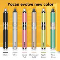 Yocan تتطور عدة الشمع المرذاذ vape القلم أطقم 5 ألوان e السجائر كيت مع الكوارتز المزدوج لفائف qdc 650 مللي أمبير dab القلم 100٪ الأصلي
