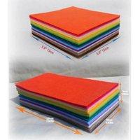 Fabric CMCYILING 80 Sheets Felt Cloth Felts Polyester Nonwoven Fabrics For Needlework Diy Needle Sewing Handmade Feltro