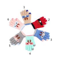 Bébé Enfants d'hiver chauds Gants de Noël 2020 Nouveaux Filles Garçons en bas âge mignon Elk bébé doigt à tricoter des gants pour 3-8 ans B1