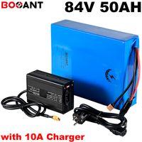 23S 17P 84V 50Ah batteria elettrica bicicletta per 84V 5000W 7000W 8000W motorino di litio batteria Samsung INR18650-30Q con 10A caricatore