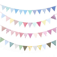 DIY Paper Flags Garland Floral Bunting Banners Kids Birthday...