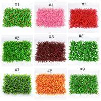 البيئة العشب الاصطناعي الملونة العشب الاصطناعي دائم جدار بلات الاصطناعي العشب البلاستيك الحساس لحديقة الزفاف EEA310
