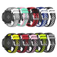 20 22mm pulseira de silicone faixa de relógio para samsung engrenagem s3 esporte s2 s4 galáxia 42 46mm faixa ativa para pulseiras de relógio amazfit stratos 2 / 2s