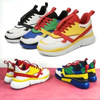 Fashion Color Mens Tide Shoes Yellow Blue White Trend Style ...