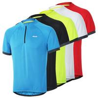 Erkek 1/4 Zip Kazak Yaz Bisiklet Bisikleti Üstleri Açık Spor Kısa Kollu T-shirt Erkekler Rahat Hızlı Kuru Koşu Yürüyüş Kamp Formaları