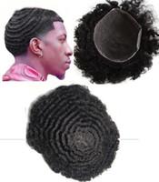 Мужчины Парик Худовицы 10 мм Волна Topee Полный Швейцарский Кружева Topee Black 1B 10A Бразильская Реми Человеческие Волос Замена Для Черных Мужчин Бесплатная Доставка