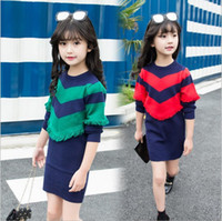 Girls Long Flounced Sweater 2019 Spring Girls Princess Sweat...