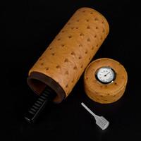액세서리 size200 * 80mm 흡연에 대한 뜨거운 판매 시가 튜브 휴 미더 갈색 나무 휴 미더 상자 ciger 케이스