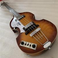 Envío gratis, calidad superior gratis Fábrica de envío a mano izquierda Hofner Bass Hofner Icono Serie Vintage Violin Bass Guitarra en stock 14-6-1