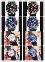 La meilleure qualité Calibre De Roman Noir Cadran 42mm Montre en acier W7100056 W2CA0004 WSCA0011 bracelet en caoutchouc automatique Mode Montres Hommes Montre