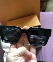 Heißer Verkauf Luxus MILLIONAIRE M96006WN Sonnenbrillen Voller Rahmen Vintage Designer Sonnenbrillen für Männer Shiny Gold Logo Gold überzogen Top L96006