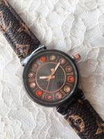Luxuriöse Frauen Echtes Leder Braunes Leder Armband Wasserdichte Rose Gold Zifferblatt Watch Frauen Uhr Kostenloser Versand Montre Femme 2020