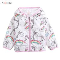 KISIBINI Brand Girls Jacket Coats Baby Hooded Spring Childre...