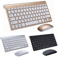 Combo tastiera e mouse wireless per Office Desktop 2.4GHz Mini Keyboards e Mouse Slim Golden Keyboards