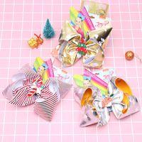 Clipes 10Styles JOJO arcos de cabelo Natal Bowknot Barrette bebê Crianças Boutique Grande hairpin Meninas Pin cabelo Acessórios GGA2925-1