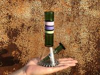 Zoda의 스트라이프 트랜스 2 색 방향 - 유리 봉수 파이프 흡연 파이프 필터 비이커 물 담뱃대