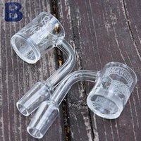Banger al quarzo con foglie sabbiate con fondo spesso o altre desings quarzo OD 25mm Accessorie per fumatori