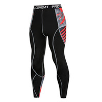 Pantalon Hommes Collants Pantalon de compression Print MMA Leggings Runnogging Fitness Exercice Slim Crossfit Stretch