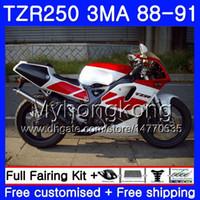 키트 야마하 라이트 화이트 레드 TZR250RR TZR-250 TZR 250 88 89 90 91 본체 244HM.27 TZR250 RS RR YPVS 3MA TZR250 1988 1989 1990 1991 페어링