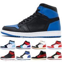 5a6b0156ce98 New Arrival. 1 High OG Banned Bred Toe Black Spider-Man UNC 1s top 3 Men  Basketball Shoes Chicago Royal Blue White Mens ...