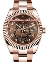 8 Stil Top Qualität Heißer Verkauf 42mm Sky-Dweller GMT Workin 326935 326938 326933 18K Gold Asien 2813 Bewegung Automatische Herrenuhr Uhren