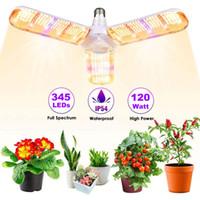 Led Grow Light Lampadina, E27 120W / 160W Pieghevole Pieghevole Sunlike Spectrum Grow luci per piante da interno, verdure, serra lampada a crescita idroponica
