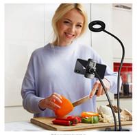 Maquiagem LED Camera selfie Luz Anel com Cell Phone Stand Holder para Streaming Iluminação acc017