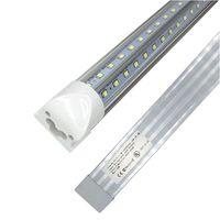 V-em forma de T8 4FT 5FT 6FT 8FT Cooler porta LED Tubo de LED Tubos LED Tubos Duplos SMD2835 LED Luzes Fluorescentes AC85-265V