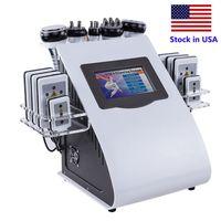 アメリカ合衆国6in1スリミングキャビテーションRF真空マイクロ電流コールドハンマー光子Lipoレーザー機SPAサロンの使用