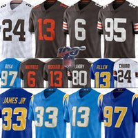 33 Derwin James Los Angeles Jersey Charger Cleveland 6 Baker Mayfield Brown 13 Keenan Allen 97 Joey Bosa 13 Odell Beckham Jr 95 Myles Garret