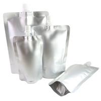 Alta qualità formato Assorted Round Corner argento lucido in alluminio Mylar riutilizzabile Stand Up becco Pouch Packaging Borse
