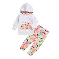 2018 2PCS Toddler Baby Long Sleeved Hooded Sweatshirt Top+ Fl...