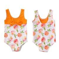 2020 الأطفال ملابس السباحة طفل رضيع الفتيات ملابس السباحة ملابس السباحة بيكيني مجموعة الخوخ المايوه 0-4T