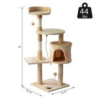 """PawHut 45"""" Gato Condomínio Torre arranhando Post Atividade Tree House Mobiliário -"""