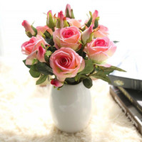 Decorative Flowers Flannel Simulation Flower Acacia Rose Fak...