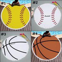 Бейсбол софтбол гобелен для пляжного полотенца круглые скатерть с кисточкой окраски пляжа Serviestte Capers футбольный пляж шаль обертки йога коврик