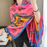 2020 الصيف وشاح تصميم الشهير نمط المرأة هدية وشاح جودة عالية 100٪ الحرير وشاح طويل الحجم 180x90 سنتيمتر 2a