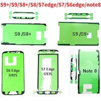 100pcs / lot LCD Ekran Yapışkan Tutkal Samsung Galaxy S9 S8 için Teyp Artı Not 8 S7 kenar s6 kenar Ön Çerçeve Bant Arka Kapak Sticker