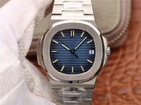 PF 5711 Montre de Luxe con 324 relojes automáticos de movimiento mecánico Relojes de diseñador de hebilla plegable de acero a prueba de agua